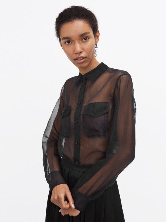 Mequieres - Organza Shirt Black