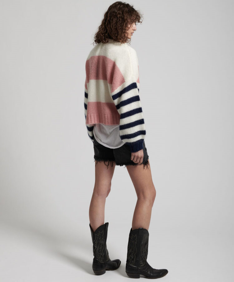 Mequieres Heathers Stripe Sweater